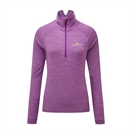 Picture of Ron Hill Ladies Stride Thermal L/S Zip Tee - Grape
